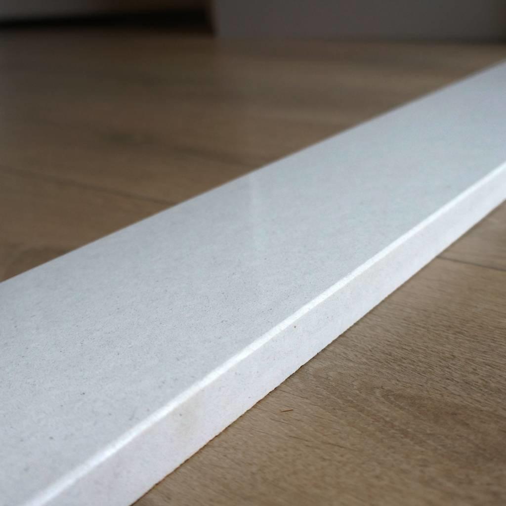 Dorpel composiet Bianco S - OP MAAT - 2 cm dik - 2-25 cm breed - 10-230 cm lang -  Binnen(deur)dorpel gepolijst marmer composiet wit