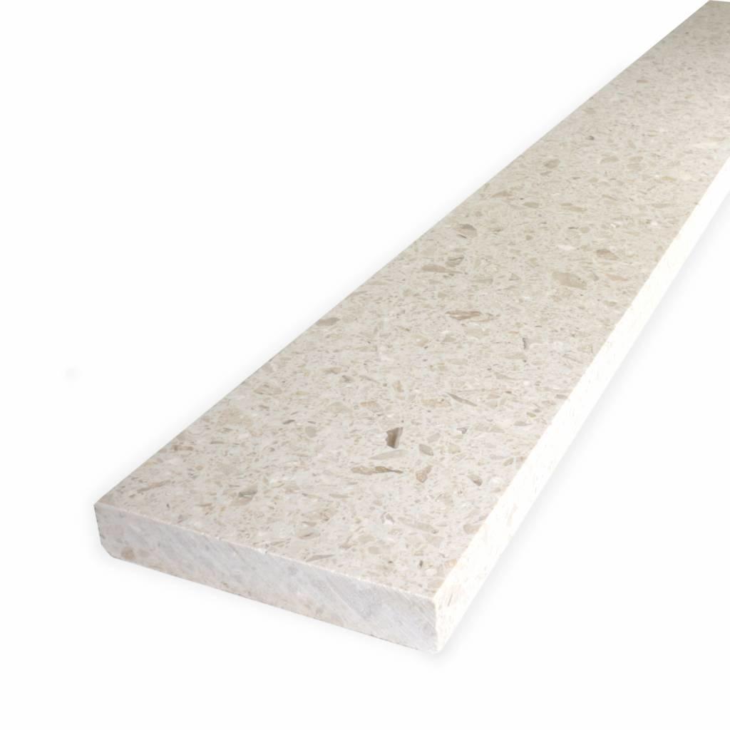 Dorpel composiet Perlato - OP MAAT - 2 cm dik - 2-25 cm breed - 10-230 cm lang -  Binnen(deur)dorpel gepolijst marmer composiet