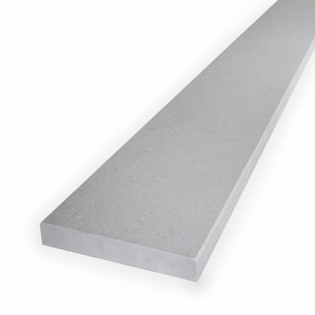 Dorpel composiet Titano - OP MAAT - 2 cm dik - 2-25 cm breed - 10-230 cm lang -  Binnen(deur)dorpel gepolijst marmer composiet licht grijs