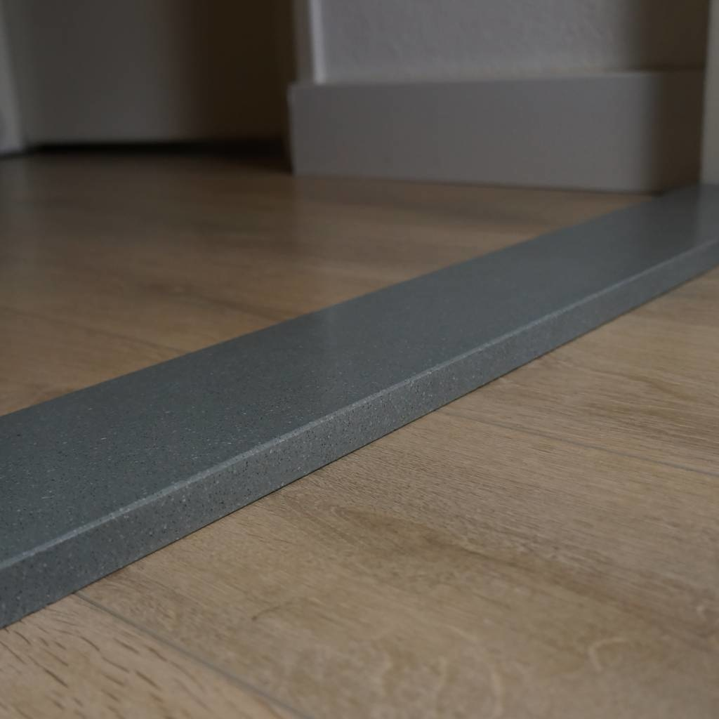 Dorpel composiet Grigio - OP MAAT - 2 cm dik - 2-25 cm breed - 10-230 cm lang -  Binnen(deur)dorpel gepolijst marmer composiet grijs