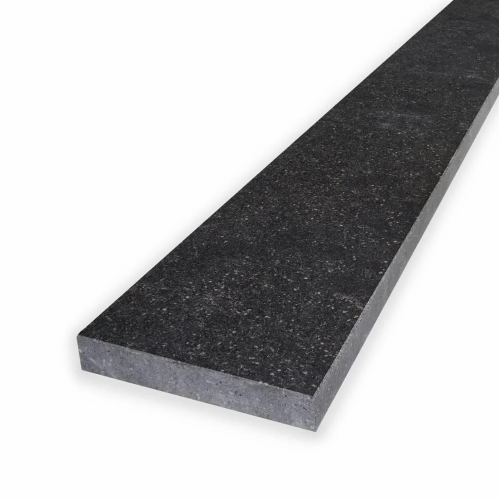 Dorpel composiet Hardsteen look - OP MAAT - 1,8 cm dik - 2-25 cm breed - 10-230 cm lang -  Binnen(deur)dorpel gepolijst marmer composiet antraciet hardsteen imitatie