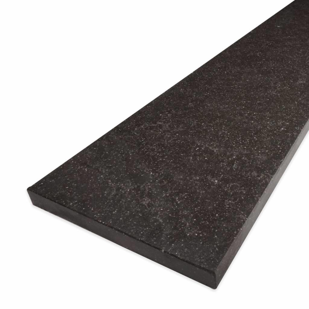 Vensterbank kwartscomposiet Belgisch hardsteen look - OP MAAT - 2 cm dik - 10-70 cm breed - 10-230 cm lang -  Gepolijst quartz composiet hardsteen imitatie