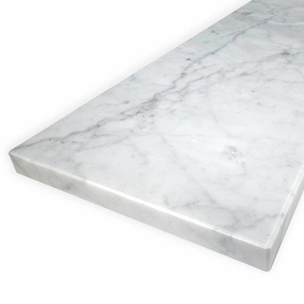 Vensterbank Bianco Carrara marmer gezoet - 2 cm dik -  OP MAAT