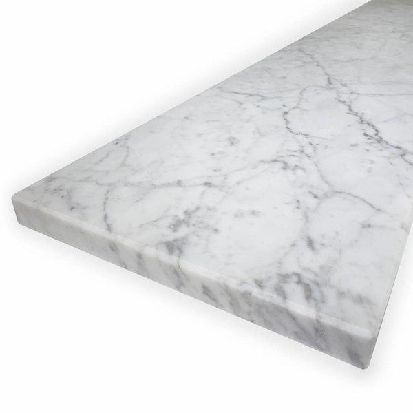 Vensterbank Bianco Carrara marmer gepolijst - 3 cm dik -  OP MAAT