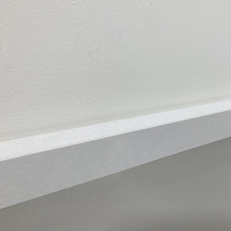 Plint composiet Polare 2 cm dik - OP MAAT-  5-25 cm breed - 50-120 cm lang - Muurplint gepolijst marmer composiet