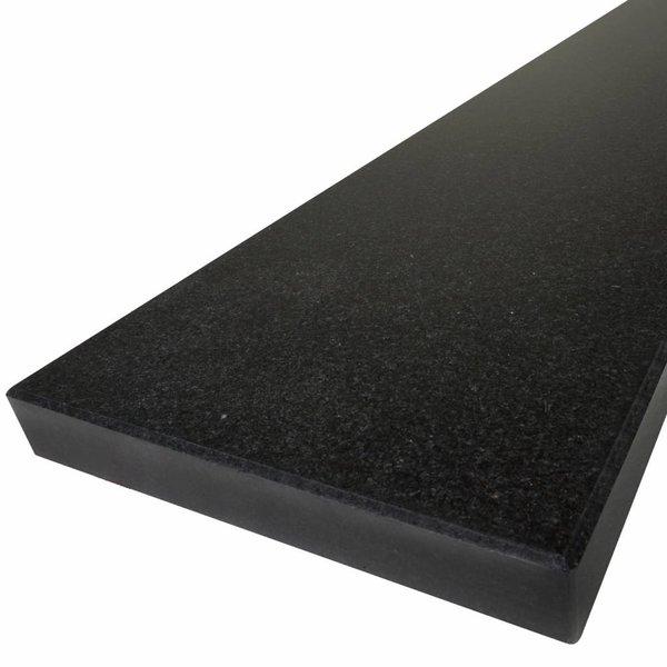 Vensterbank Nero Assoluto graniet gepolijst 3 cm dik - OP MAAT