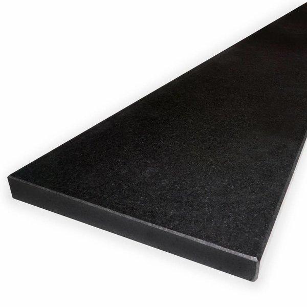 Vensterbank Nero Assoluto graniet gezoet 3 cm dik - OP MAAT
