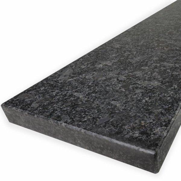Vensterbank Steel grey graniet gepolijst 2 cm dik - OP MAAT