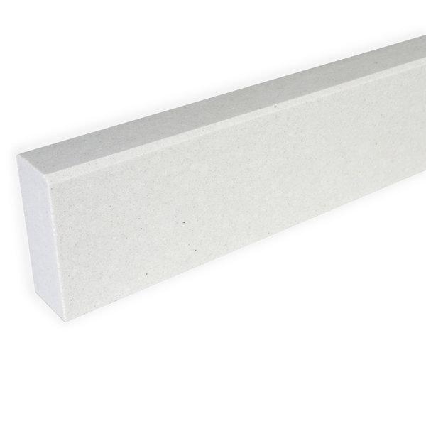 Plint composiet off white 1 cm dik - OP MAAT