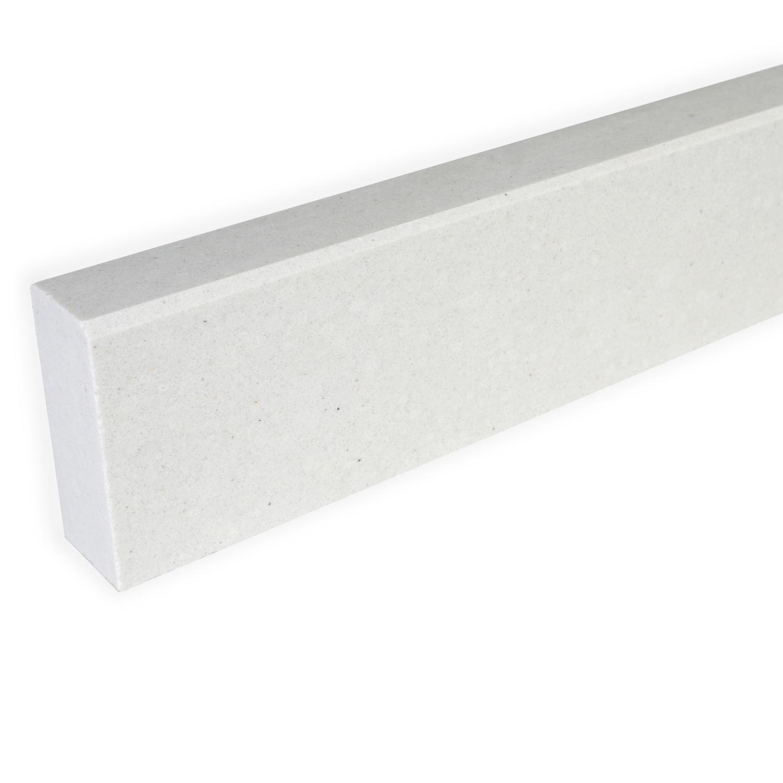 Plint composiet off white 1 cm dik - OP MAAT-  5-25 cm breed - 50-120 cm lang - Muurplint gepolijst marmer composiet