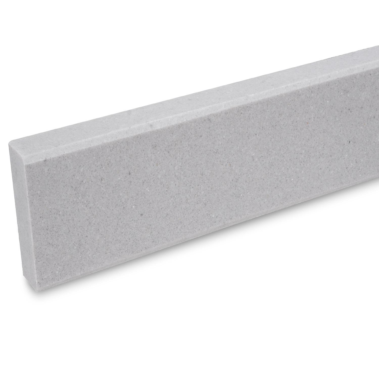 Plint composiet Titano 1 cm dik - OP MAAT-  5-25 cm breed - 50-120 cm lang - Muurplint gepolijst marmer composiet lichtgrijs