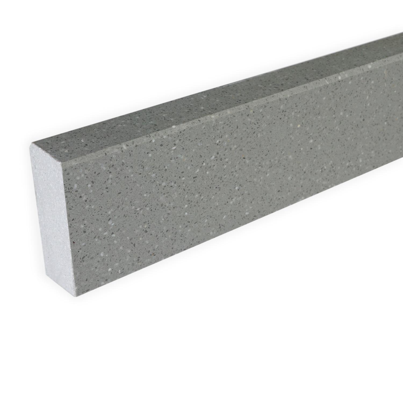 Plint composiet Grigio 1 cm dik - OP MAAT-  5-25 cm breed - 50-120 cm lang - Muurplint gepolijst marmer composiet grijs