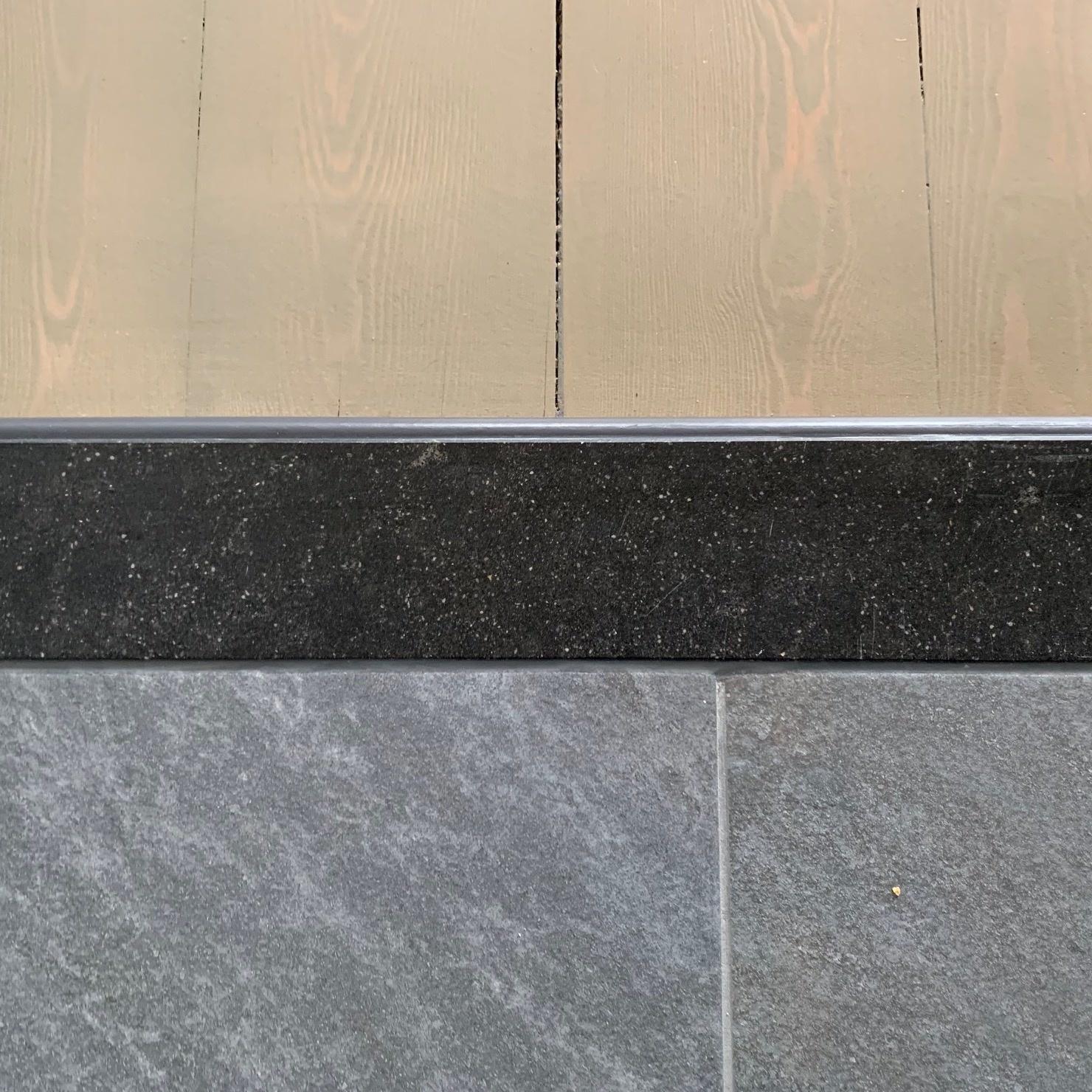 Dorpel composiet Hardsteen look - OP MAAT - 2 cm dik - 2-25 cm breed - 10-230 cm lang -  Binnen(deur)dorpel gepolijst marmer composiet antraciet hardsteen imitatie