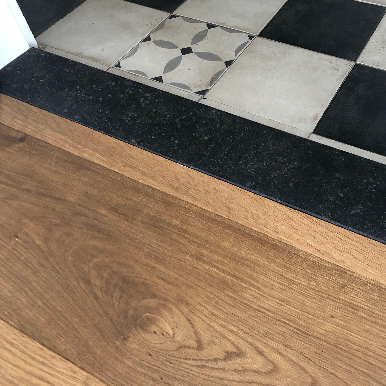 Dorpel Belgisch hardsteen donker gezoet 2 cm dik - OP MAAT- 2-25 cm breed - 10-230 cm lang - Arduin binnen (deur)dorpel - Antraciet