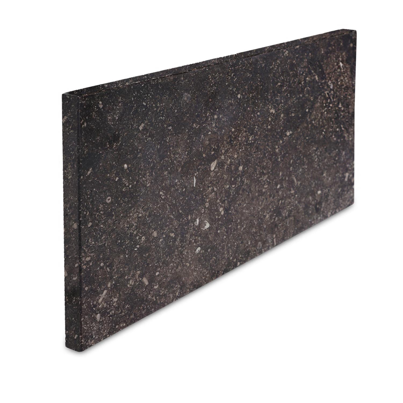 Gevelplint Belgisch hardsteen donker gezoet 2 cm dik - OP MAAT- 30-80 cm hoog - 50-180 cm lang - Antraciet donker gezoet arduin