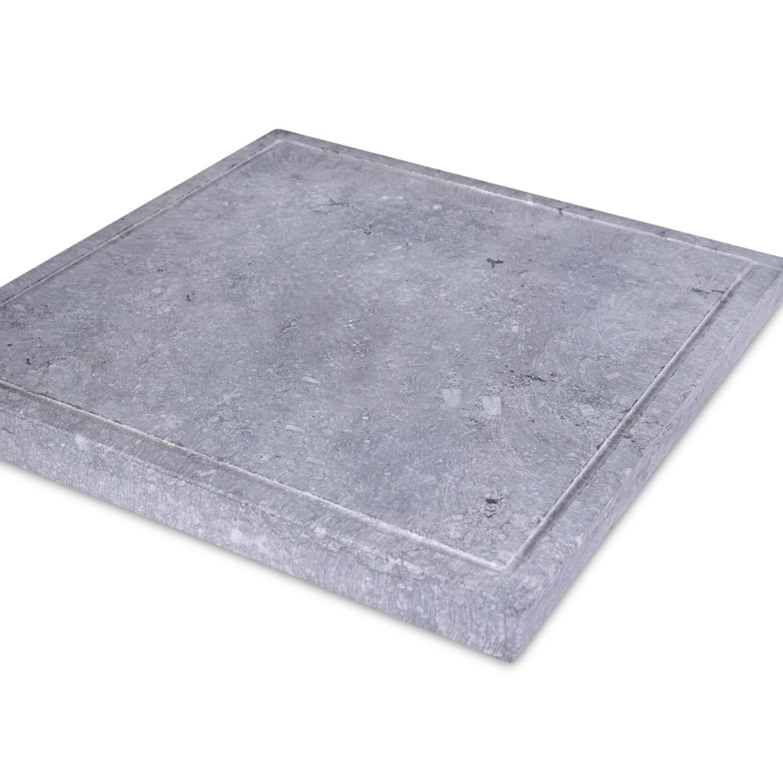 Paalmuts Belgisch hardsteen gezoet 5 cm dik - OP MAAT - van 35x35 tot 100x100 - Hardstenen paal - pilaar afdekker buiten licht / blauw gezoet