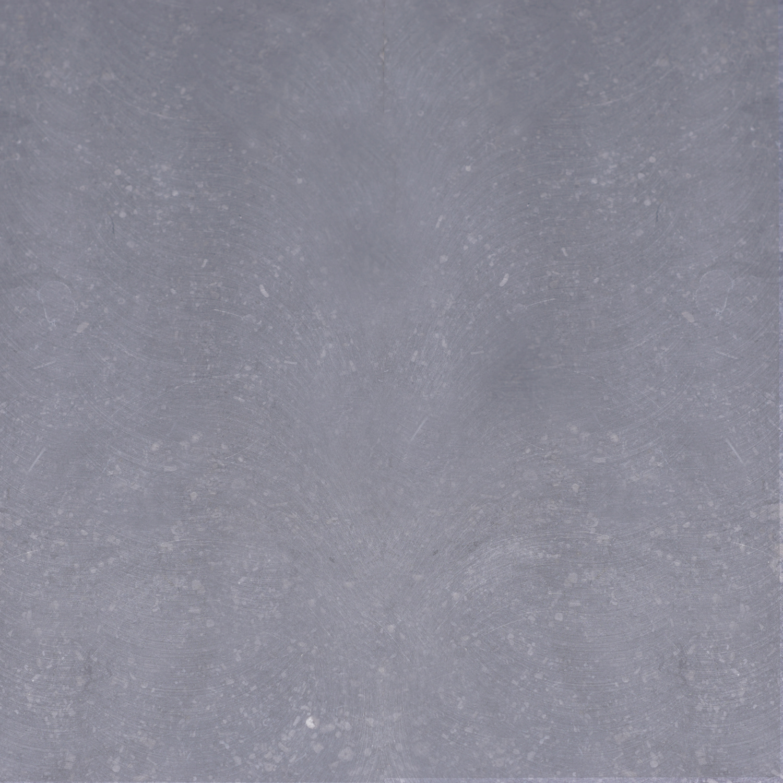Paalmuts Belgisch hardsteen gezoet 8 cm dik - OP MAAT - van 35x35 tot 100x100 - Hardstenen paal - pilaar afdekker buiten licht / blauw gezoet