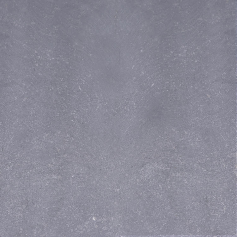 Sample Belgisch hardsteen gezoet 10x10x2 cm - materiaal proefstuk - monster licht blauw gezoet