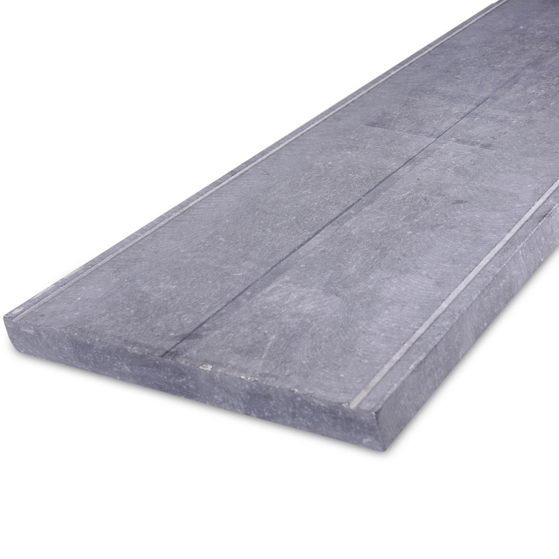 Muurafdekker Belgisch hardsteen geschuurd 5 cm dik - OP MAAT-  15-120 cm breed - 50-230 cm lang - Muurafdekking buiten arduin