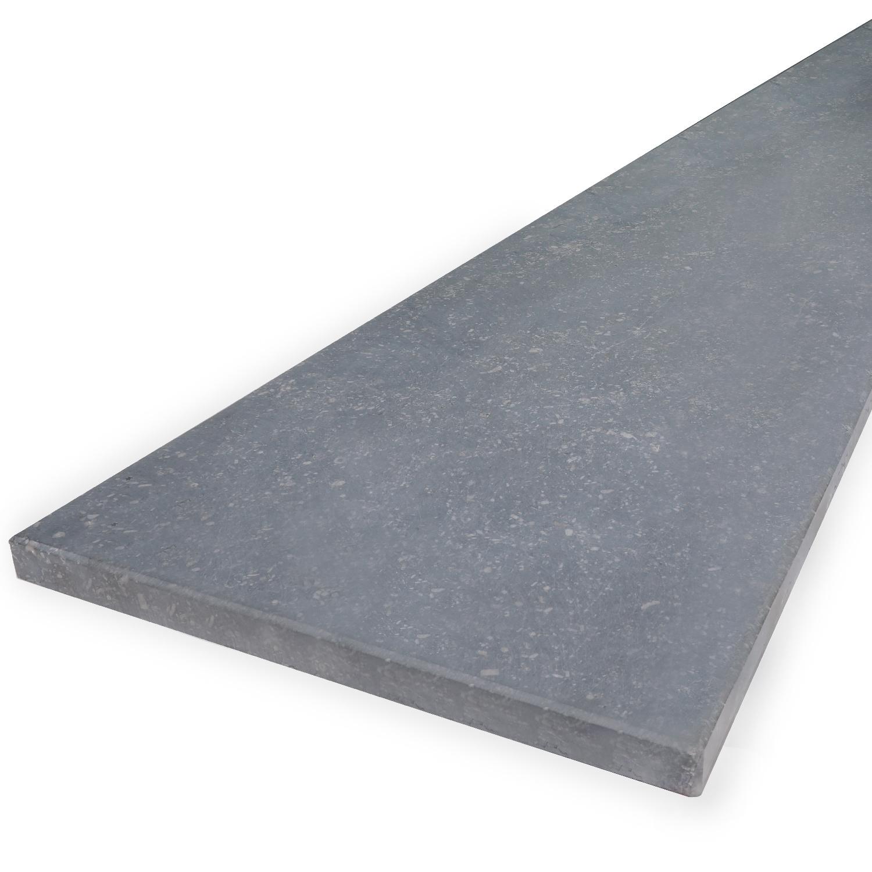 Vensterbank Belgisch hardsteen gezoet 2 cm dik - OP MAAT- 10-70 cm breed - 10-230 cm lang - Licht / blauw gezoet Belgisch hardsteen - arduin