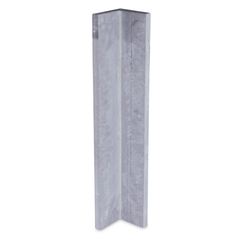 Gevelplint hoek - Belgisch hardsteen geschuurd -10/10x2 cm - Binnenhoek & buitenhoek - Hoogte op maat - 30-80 cm - Belgisch hardsteen gezoet / blauw