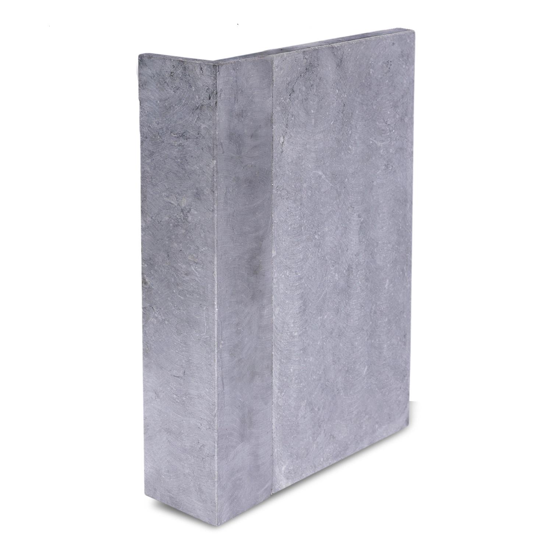 Gevelplint hoek - 10/10x2 cm - Binnenhoek & buitenhoek - Hoogte op maat - 30-80 cm - Belgisch hardsteen geschuurd