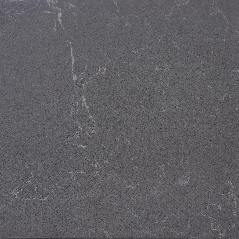 Vensterbank kwartscomposiet graphite marmer look - OP MAAT - 2 cm dik - 10-70 cm breed - 10-230 cm lang -  Gepolijst quartz composiet grafietgrijze marmer imitatie