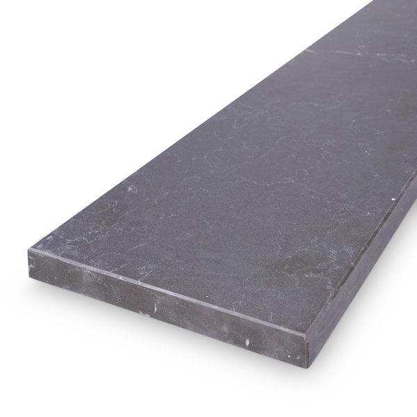 Vensterbank kwartscomposiet graphite marmer look - OP MAAT