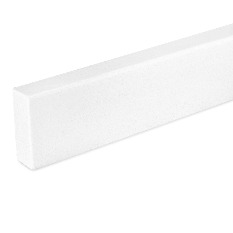 Plint kwartscomposiet Wit 2 cm dik - OP MAAT -  5-25 cm breed - 50-120 cm lang - Witte muurplint gepolijst quatz composiet