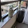 Vensterbank composiet Cool Grey - OP MAAT - 2 cm dik - 10-70 cm breed - 10-230 cm lang -  Gepolijst marmer composiet licht grijs