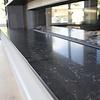 Vensterbank kwartscomposiet zwart marmer look - OP MAAT - 2 cm dik - 10-70 cm breed - 10-230 cm lang -  Gepolijst quartz composiet zwarte marmer imitatie