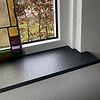 Vensterbank Nero Assoluto graniet Anticato gevlamd 2 cm dik - OP MAAT- 10-70 cm breed - 10-230 cm lang - Absolute black zwart graniet gebrand