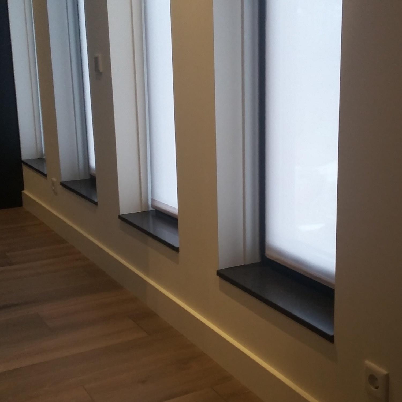 Vensterbank marmercomposiet - Hardsteen look - OP MAAT - 2 cm dik - 10-70 cm breed - 10-230 cm lang -  Gepolijst marmer composiet antraciet