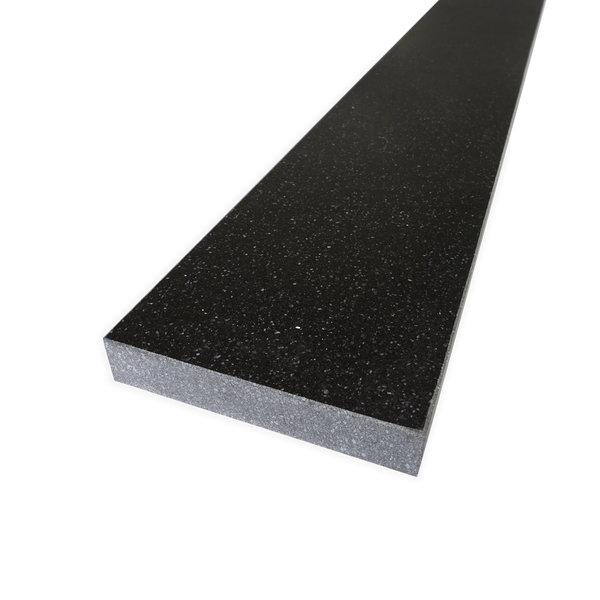 Dorpel kwartscomposiet zwart spikkel - OP MAAT
