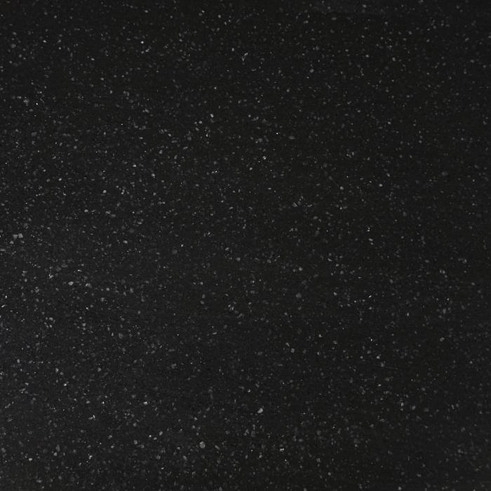 Wastafelblad kwartscomposiet - incl. gaten - zwart spikkel - OP MAAT - 2 cm dik - 10-70 cm breed - 10-230 cm lang -  Gepolijst quartz composiet zwarte natuursteen look met spikkels