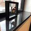 Vensterbank kwartscomposiet zwart spikkel - OP MAAT - 2 cm dik - 10-70 cm breed - 10-230 cm lang -  Gepolijst quartz composiet zwarte natuursteen look met spikkels