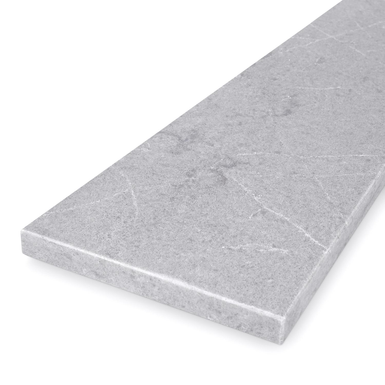 Vensterbank kwartscomposiet grijs natuursteen look - OP MAAT - 2 cm dik - 10-70 cm breed - 10-230 cm lang -  Gepolijst quartz composiet grijze natuursteen imitatie