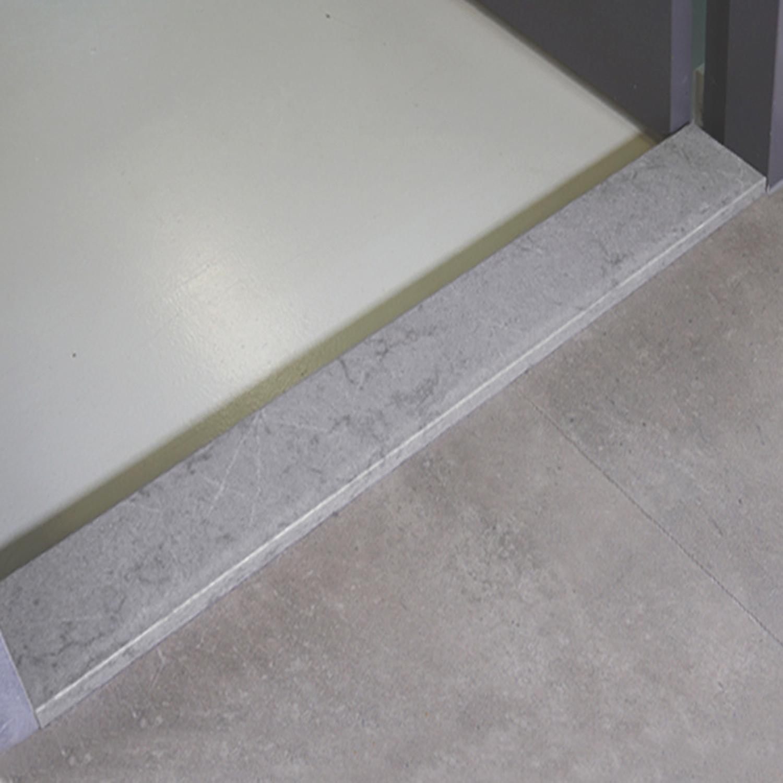 Dorpel kwartscomposiet grijs natuursteen look - OP MAAT - 2 cm dik - 2-25 cm breed - 10-230 cm lang -  Binnen(deur)dorpel gepolijst quartz composiet grijze natuursteen imitatie