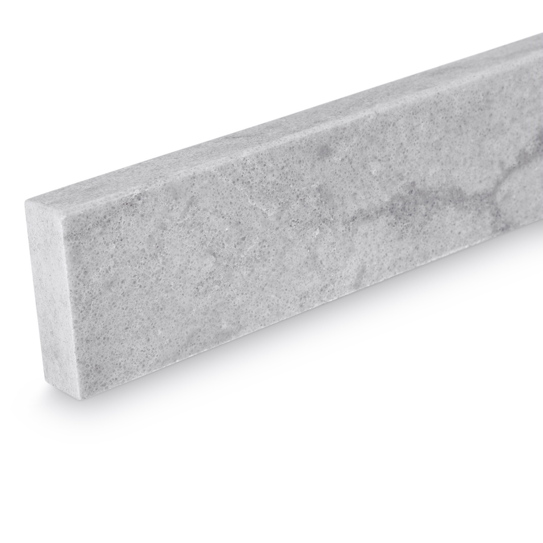 Plint kwartscomposiet grijs natuursteen look - 2 cm dik - OP MAAT-  5-25 cm breed - 50-120 cm lang - Muurplint gepolijst quatz composiet grijze natuursteen imitatie