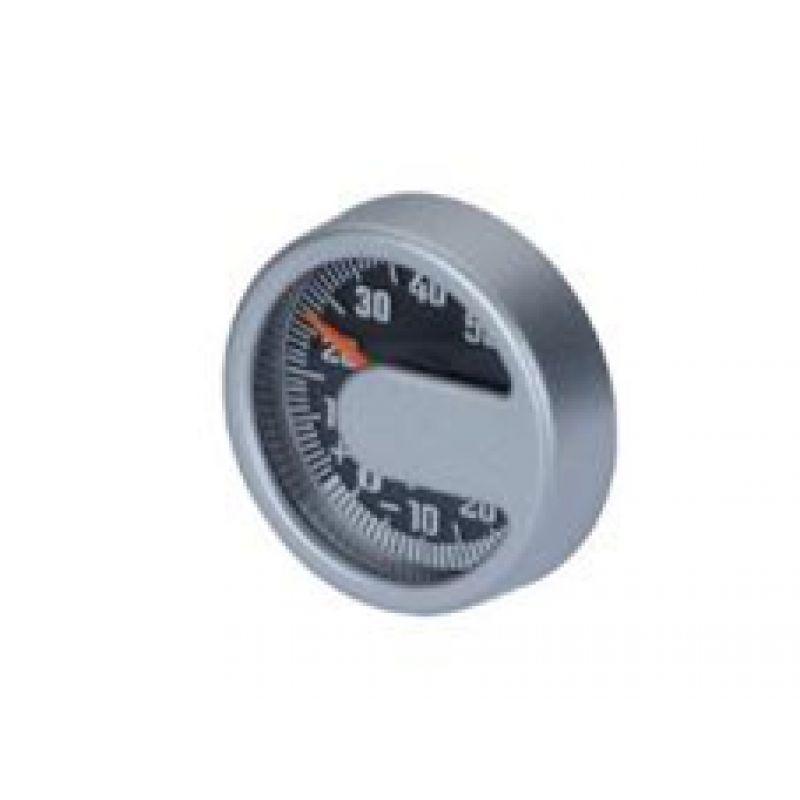 HR Binnenthermometer zilverlook
