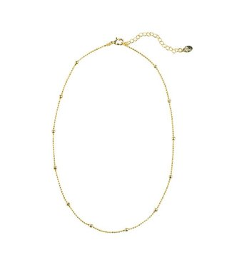 Gold Beads Choker Necklace