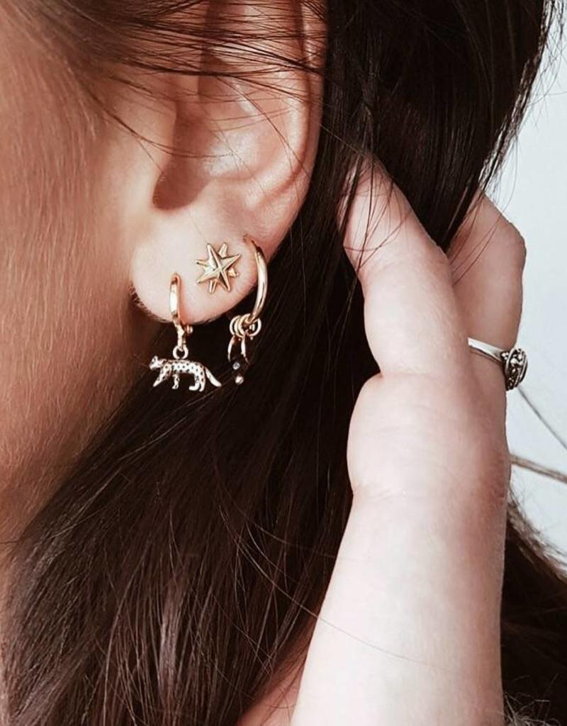 Silver Wild Leopard Earrings