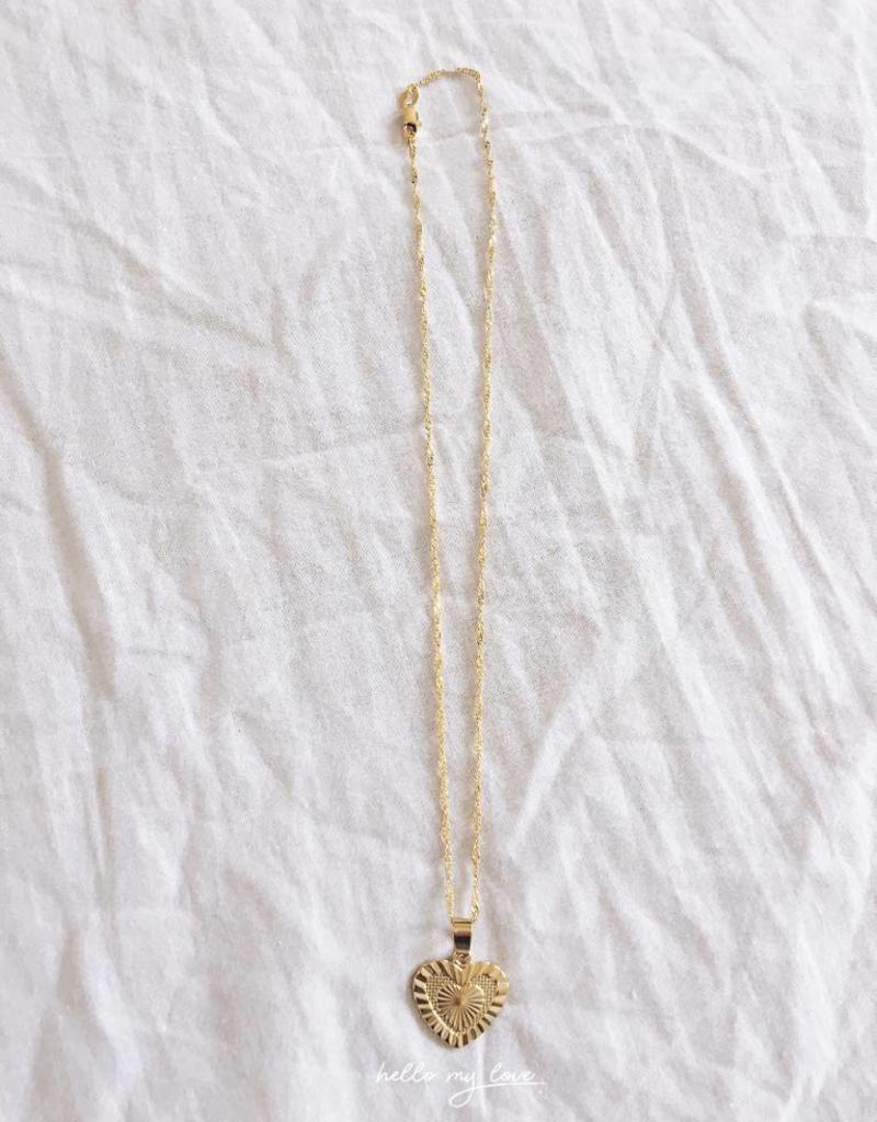 Gold Hearts To Break Necklace