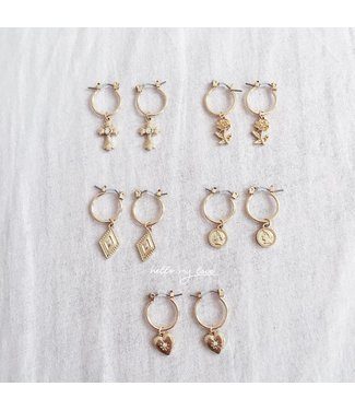 Gold Young Love Earrings