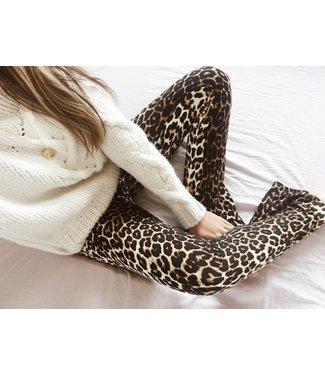 Gold Leopard Flared Leggings