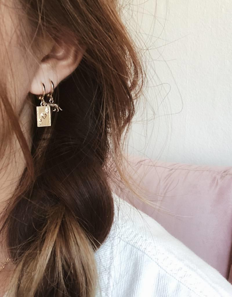 Silver Ace of Hearts Earrings