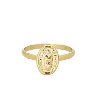 Gold Tiny Mary Ring