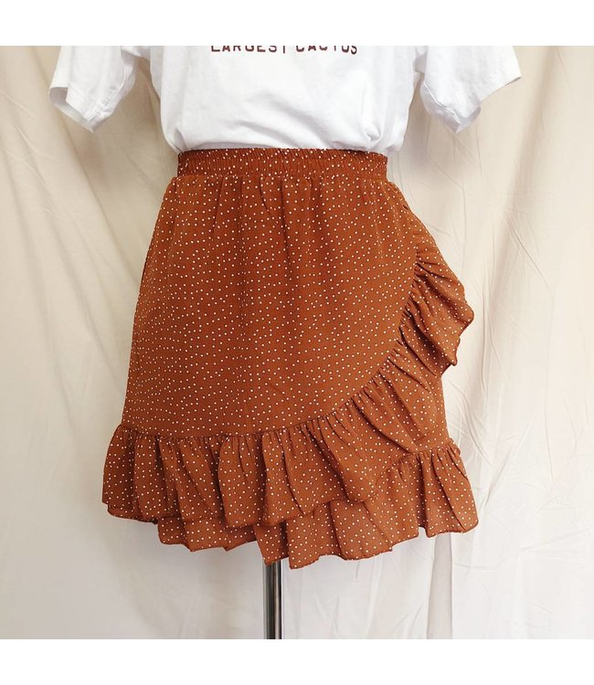 Emily Dot Skirt / Rusty