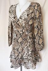 Faye Snake Wrap Dress