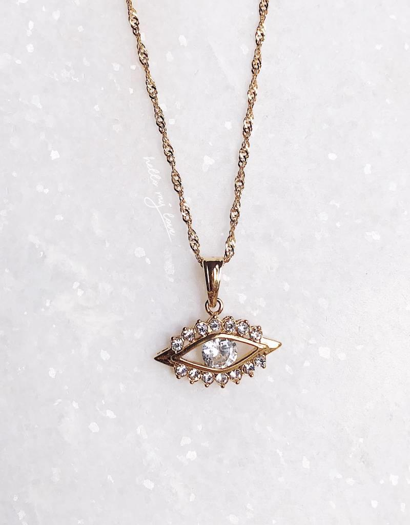 Gold Bright Eyes Necklace